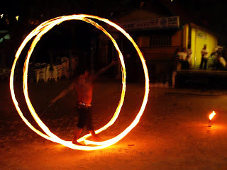 Fire Show, Ska Bar, Kata Beach. Phuket