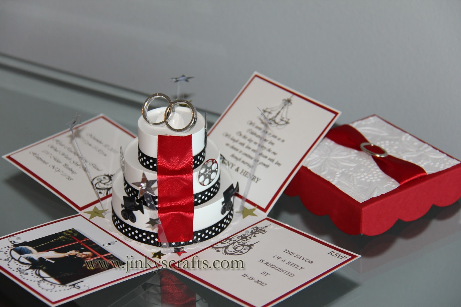 Jinkys Crafts Designs Hollywood Themed Wedding Invitations