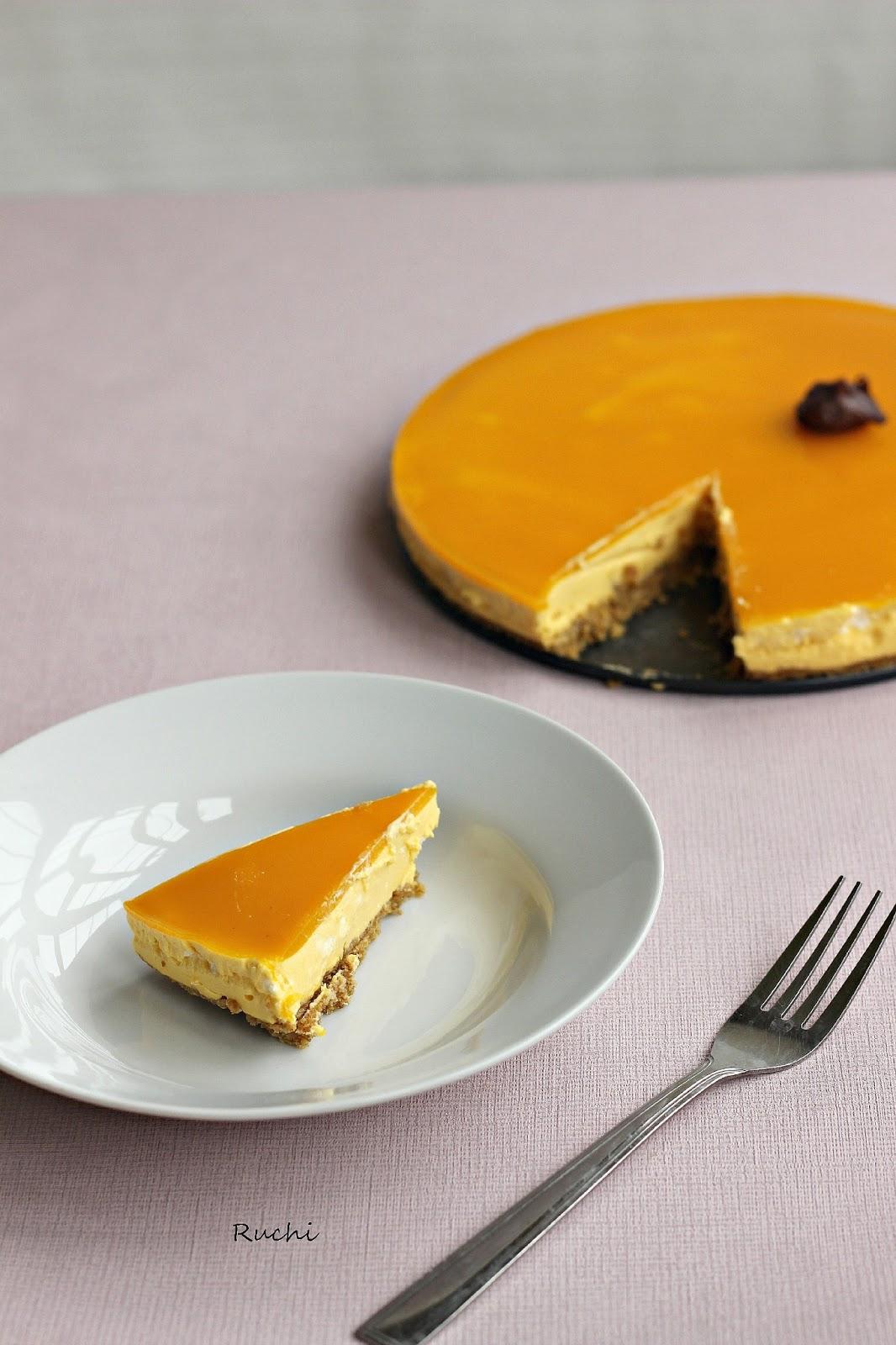 Cake Images Ruchi : RUCHI: Mango cheese cake