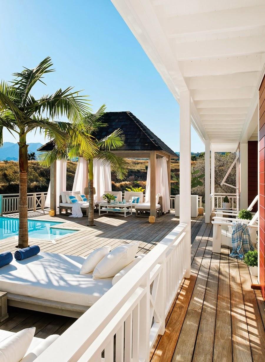 wystrój wnętrz, wnętrza, dom, home decor, aranżacje, białe wnętrza, willa. taras, basen