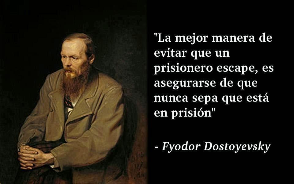 Dostoyevsk e a prisão de quem não se dá conta.