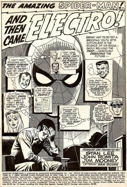 Splash Page: Amazing Spider-Man
