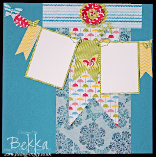Rain or Shine Scrapbook Page designed by Bekka Prideaux for her Team of Stampin' Up! Demonstrators - find out about joining them here