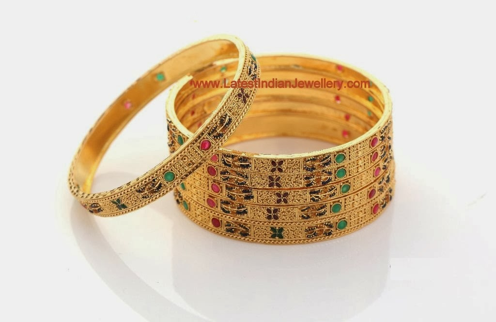 Calcutta Design Gold Bangles