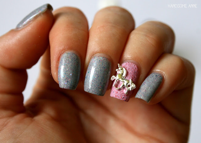 Paws by Eddie - 3D Nail Charm - Unicorn - Silver