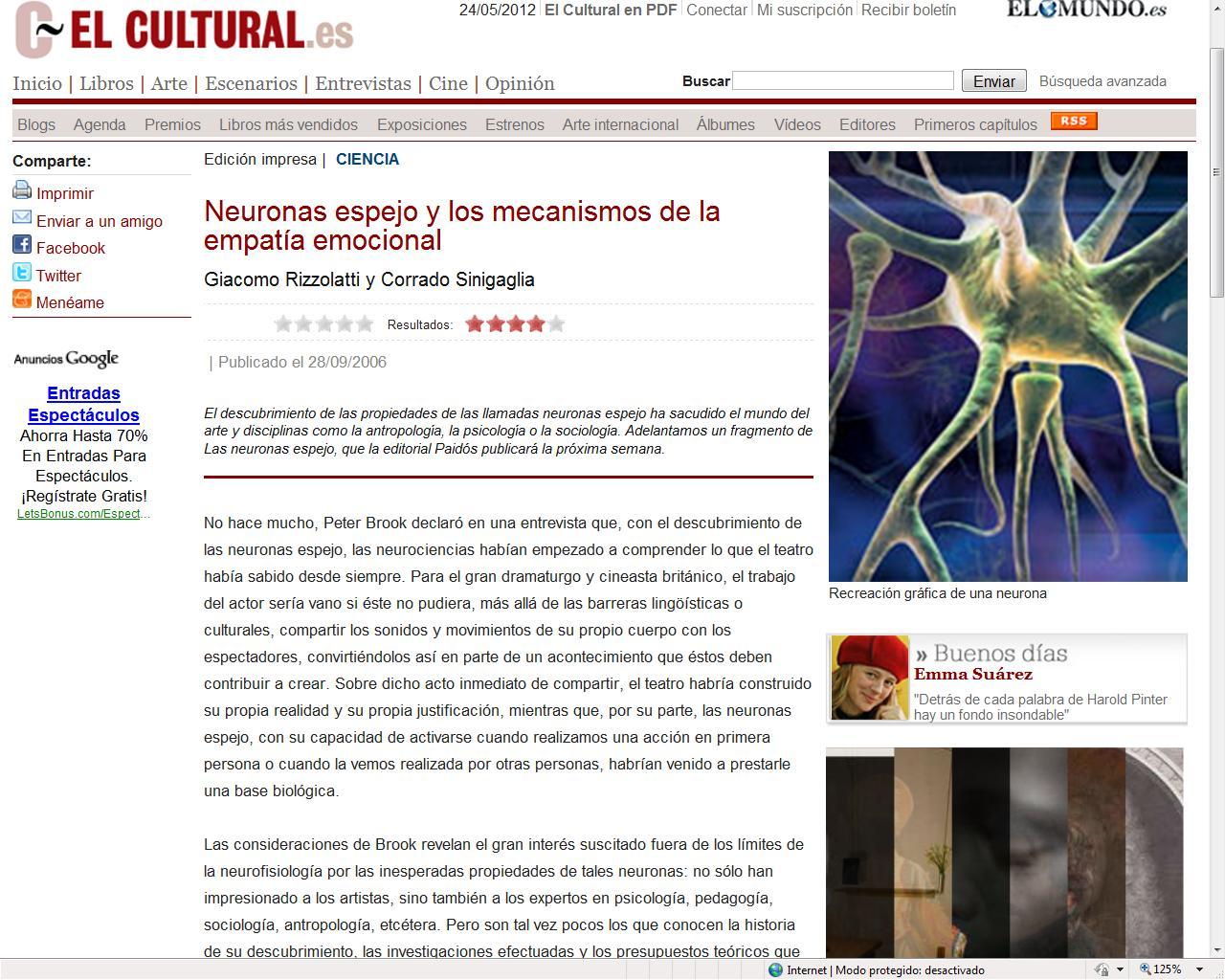 Psicolog a por favor empatia y neuronas espejo for Espejo unidireccional psicologia