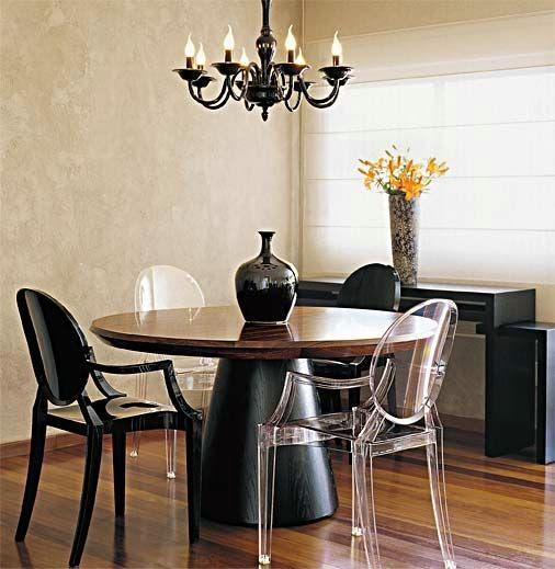 mesa de jantar com pé em cone