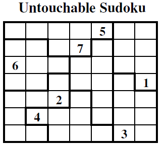 Untouchable Sudoku (Guest Authors Sudoku #6)