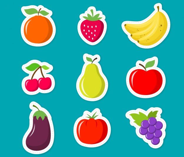 vector frutas animadas diseños en linea