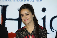 Shahid Kapoor & Shraddha Kapoor at The Official Trailer launch of movie HAIDER