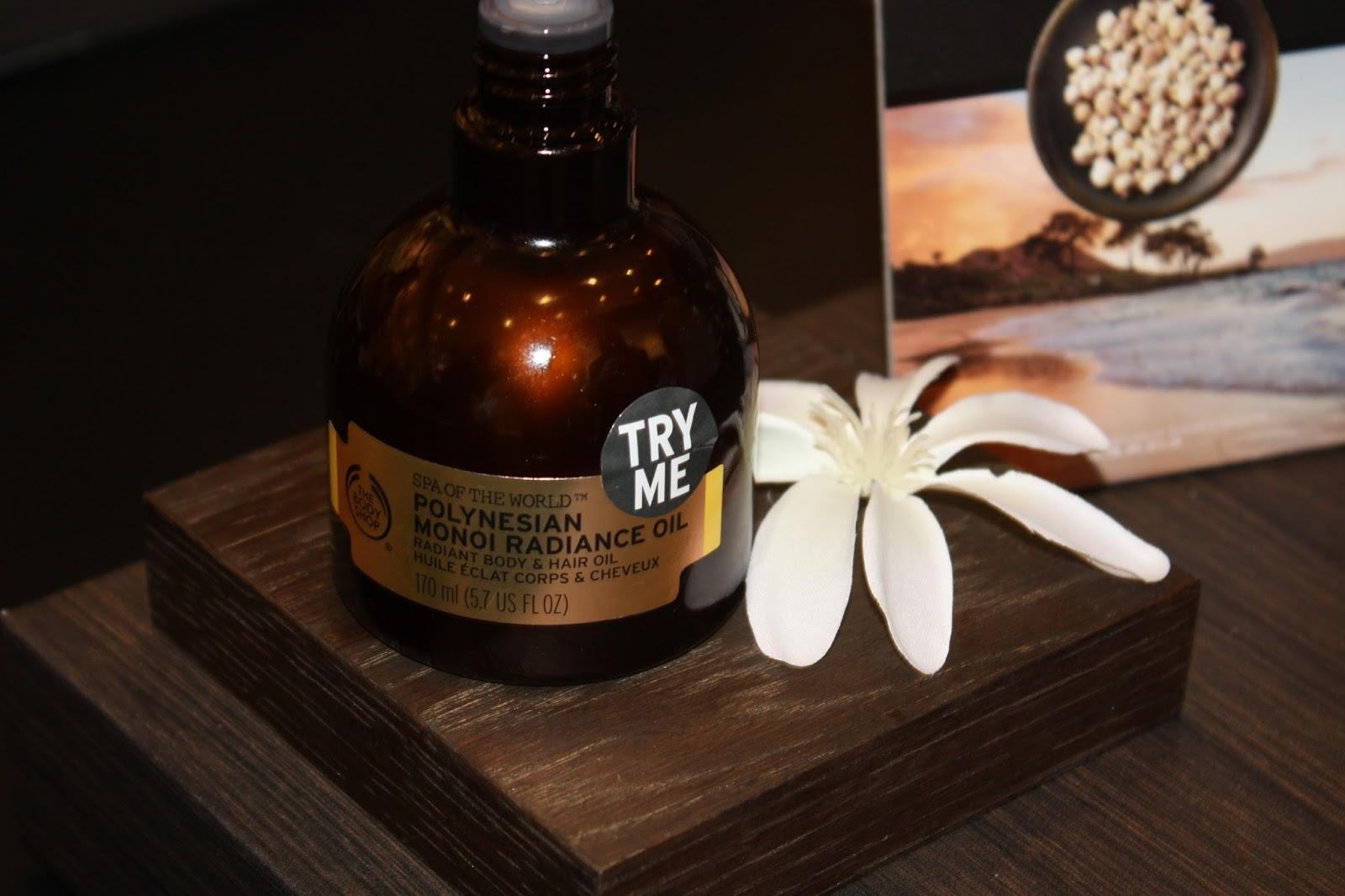 The Body Shop Southampton Spa Of The World Event Polynesian Monoi Radiance Oil