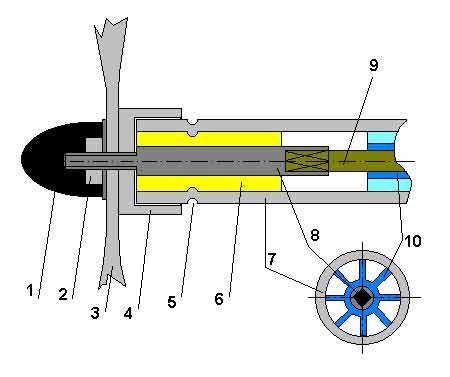 чертежи переделки триммера в лодочный мотор