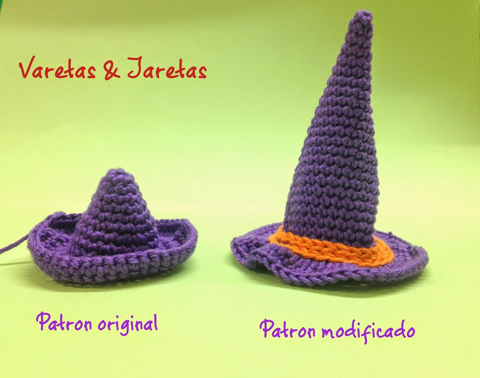 Contemporáneo Los Patrones De Ganchillo Sombrero De Halloween ...