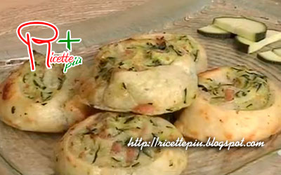Girelle di Sfoglia con Zucchine e Formaggio di Cotto e Mangiato