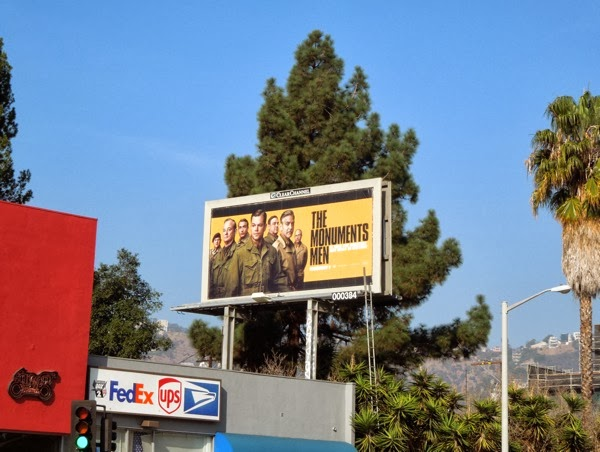 Monuments Men billboard