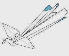 Bước 24: Hoàn thành cách gấp giấy hình con chim phượng hoàng.