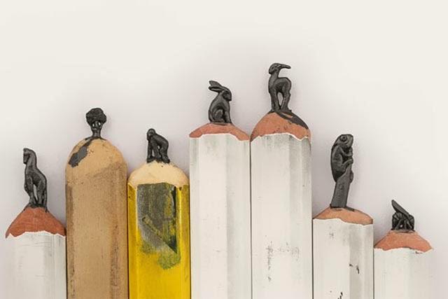 esculturas punta de lapices