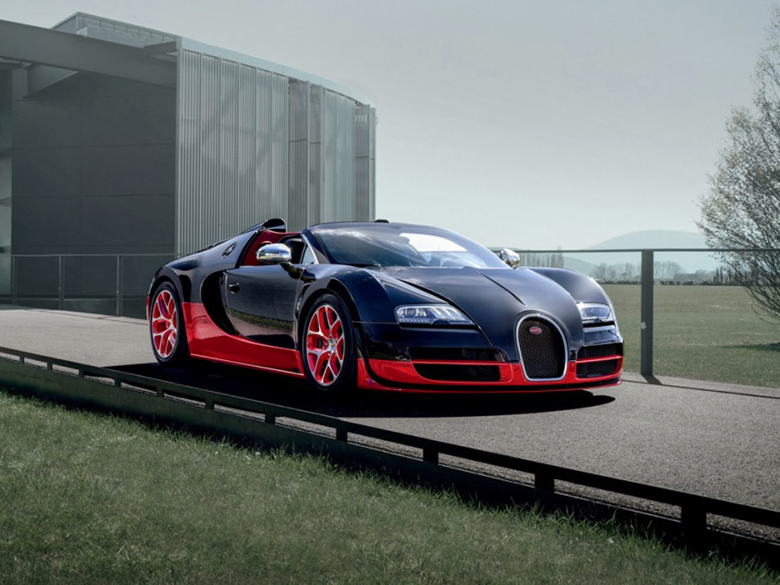 bugatti veyron black red wallpaper hd wallpaper