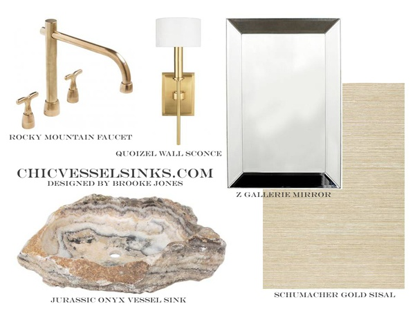 Jurassic Onyx Vessel Sink Design Board