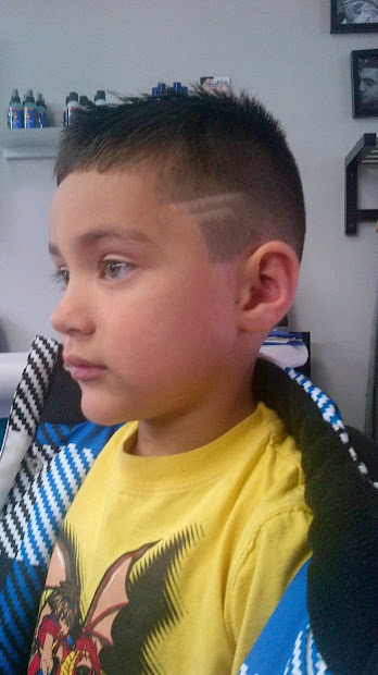 line hairstyle kids calgary