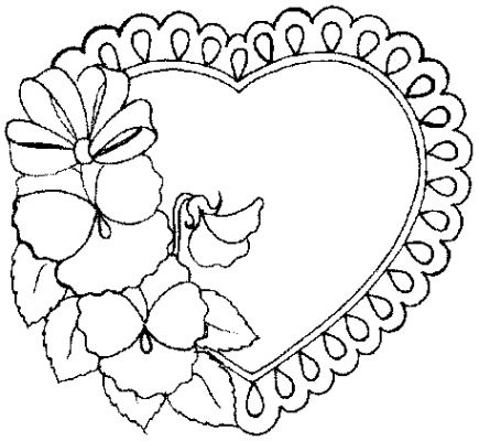 valentine coloring sheets picture 4 - Valentine Coloring Book