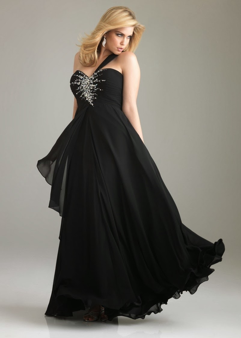 black plus size prom dresses gowns 2014 prom dresses
