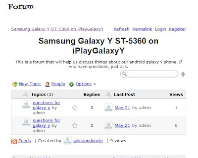 iPlayGalaxyY now has a FORUM page