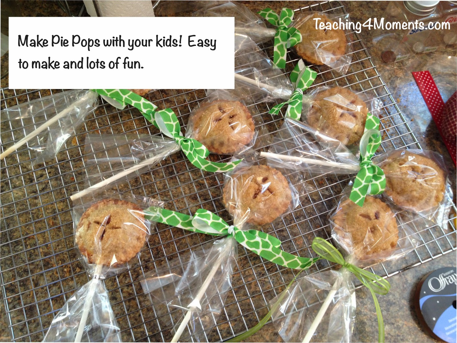 Making pie pops with your kids!