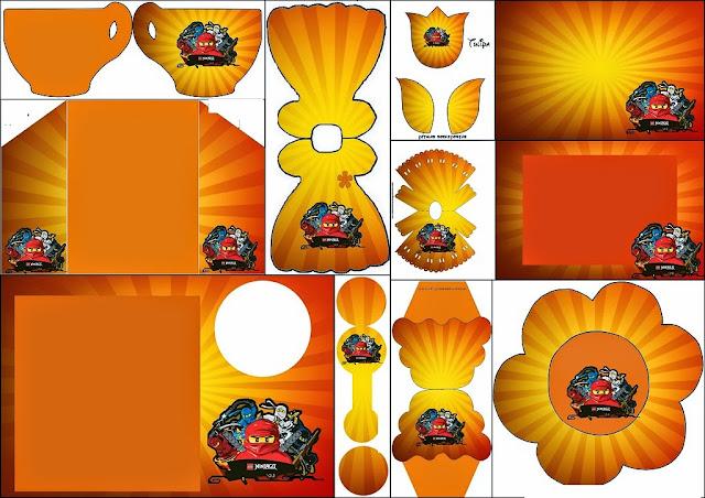 Ninjago: invitaciones, tarjetas y marcos para imprimir gratis.