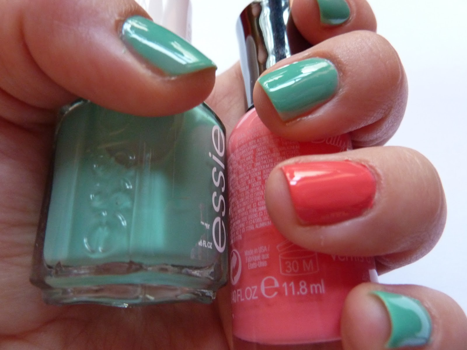 Nailed It My Favorite Spring Manicure Turquoise Coral