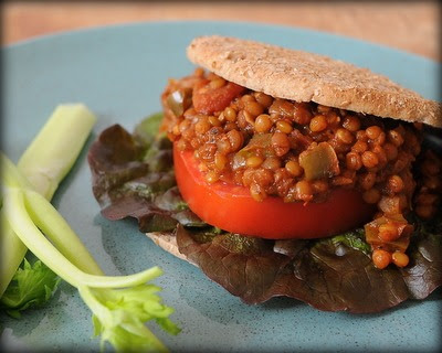 Slow Cooker Vegan Lentil Sloppy Joes