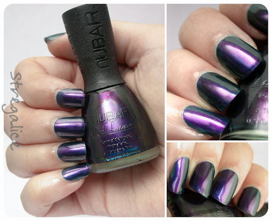 Nubar Peacock Feathers multichrome green blue purple swatch