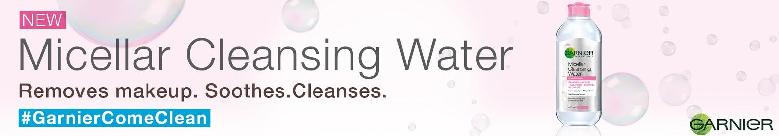 Garnier Micellar Water, Micellar Water, Cleansing Water, makeup remover, makeup