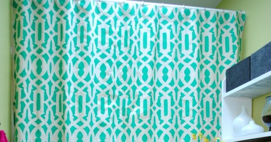 Be Different Act Normal Diy Stenciled Drop Cloth Shower Curtain