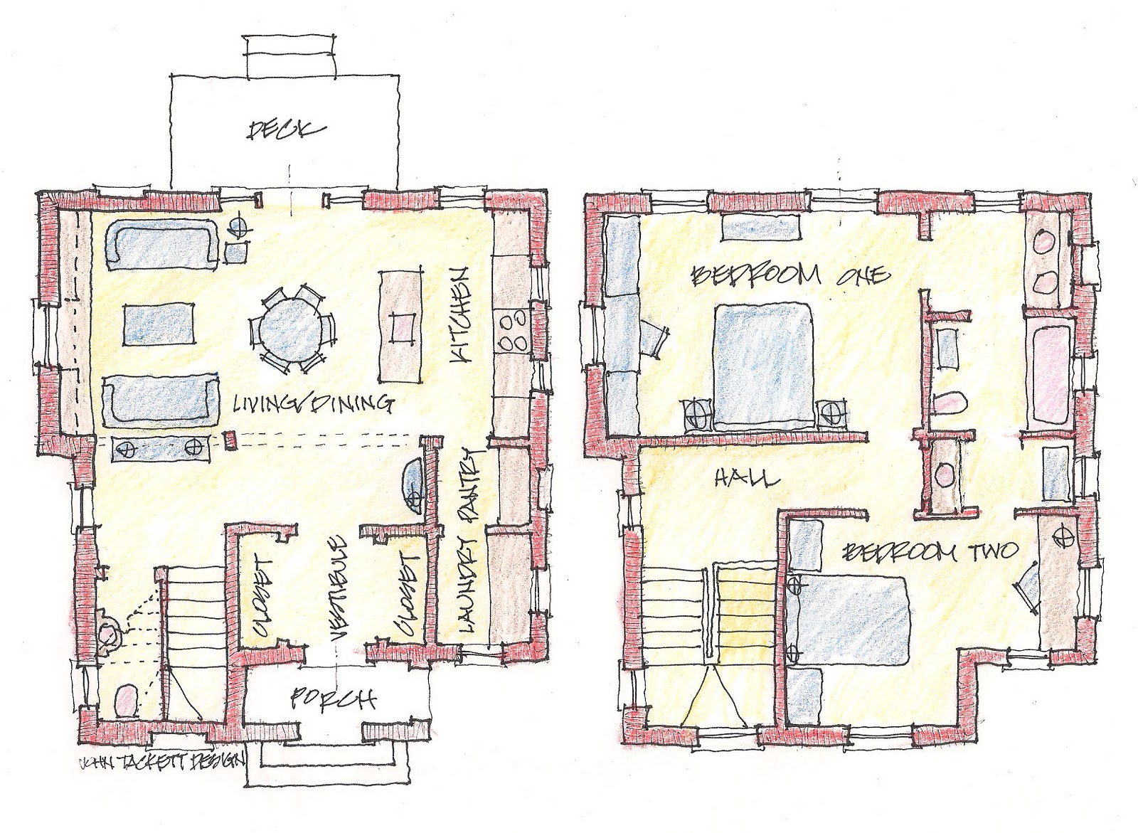 Floor plans for a detached single-family house proposed for the new ...