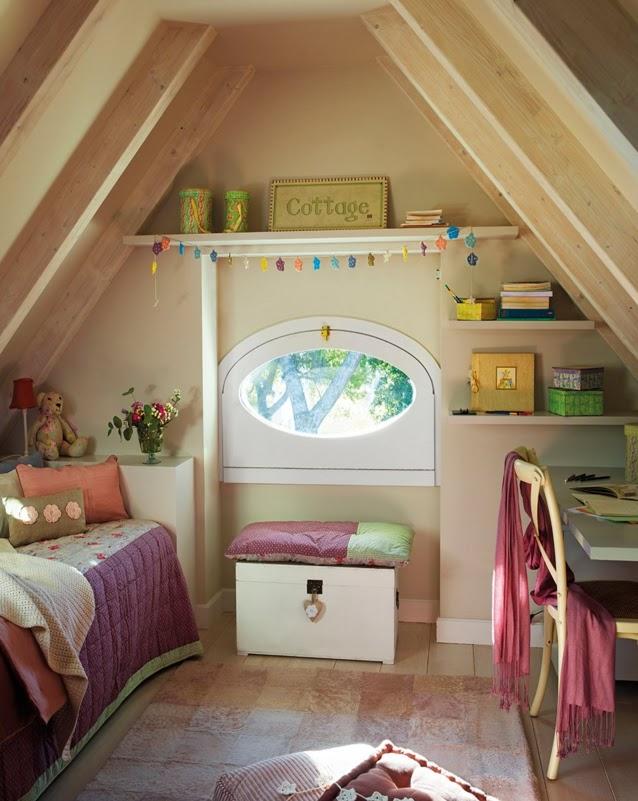 Casa tr s chic cantos de estudo para crian as e adultos - Kinderzimmer spitzboden ...