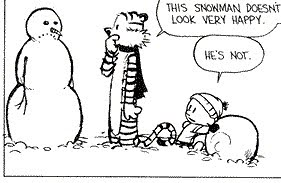 Calvin,Hobbes, and snowy ponder a possible future without Bill Watterson's trademark