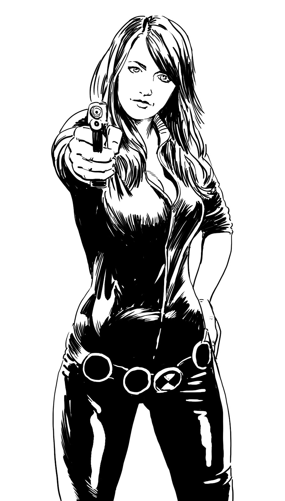 widow marvel coloring pages