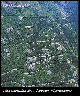 strada 50 tornanti Montenegro Lovcen