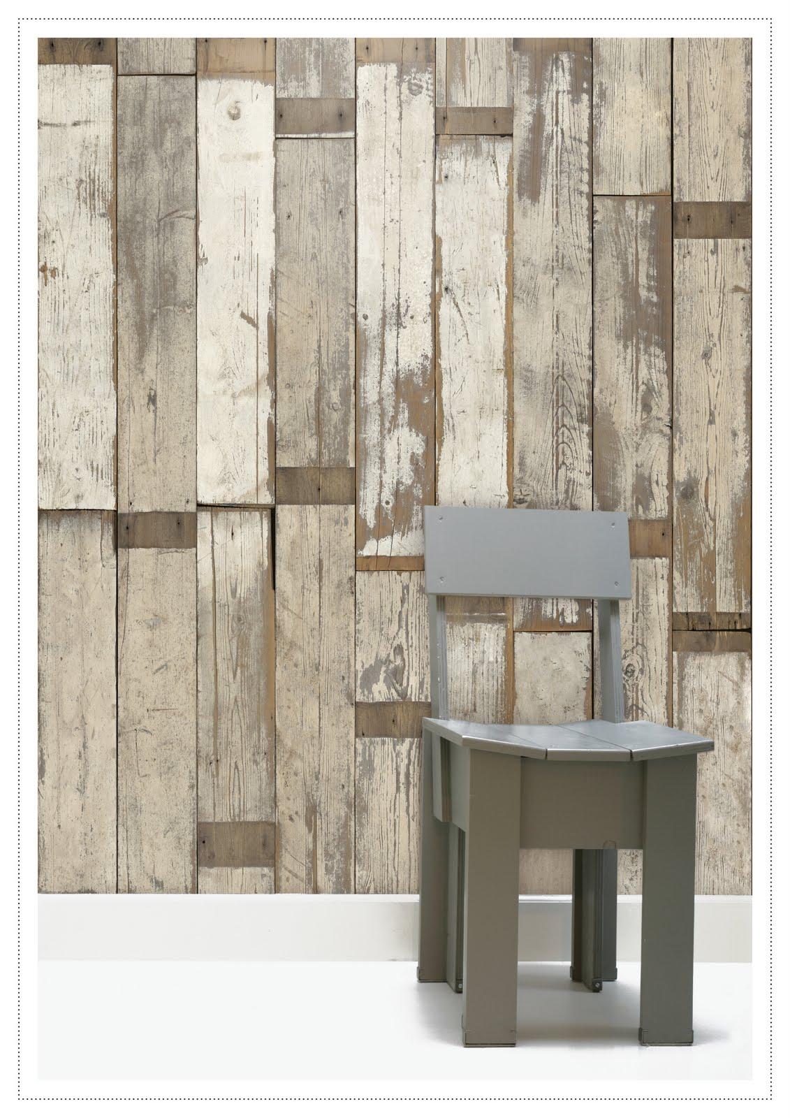 Scrapwood wallpaper by Piet Hein Eek - typicaldaytoday