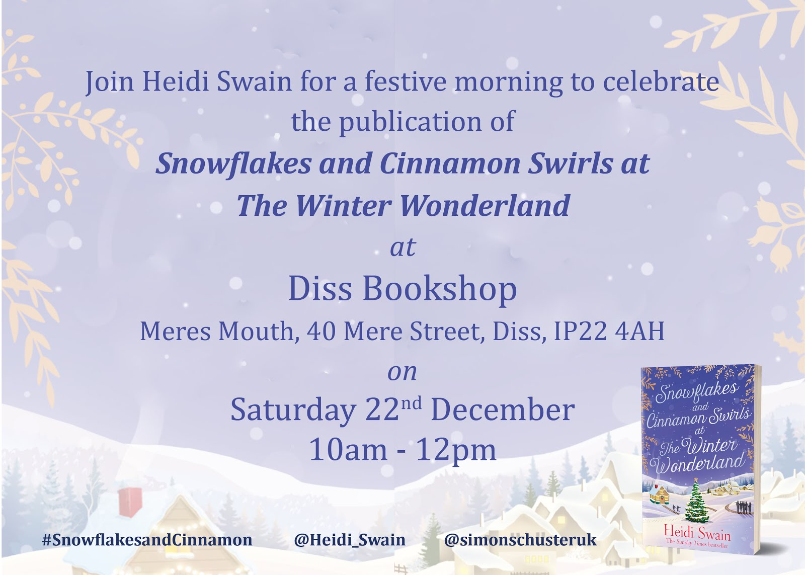 Book signing in Diss on December 22nd
