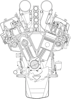 Разрез двигателя NOHAB Polar F28V