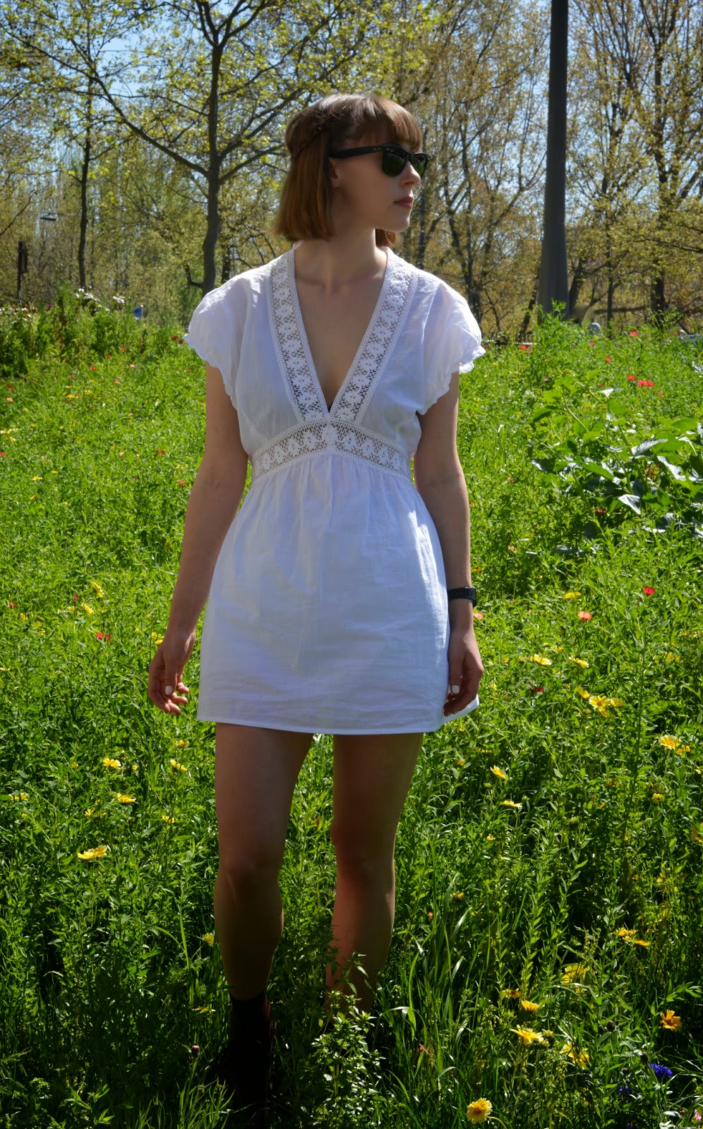 White boho dress great for festivals