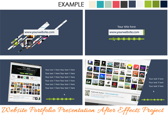 Free Website Presentation After Effect Project