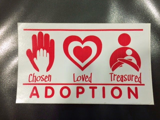 Red Adoption Car Decal