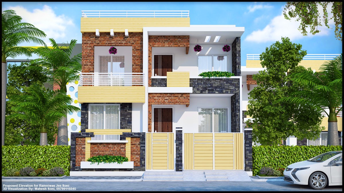 Elevation boundary wall joy studio design gallery best for Architecture house elevation design