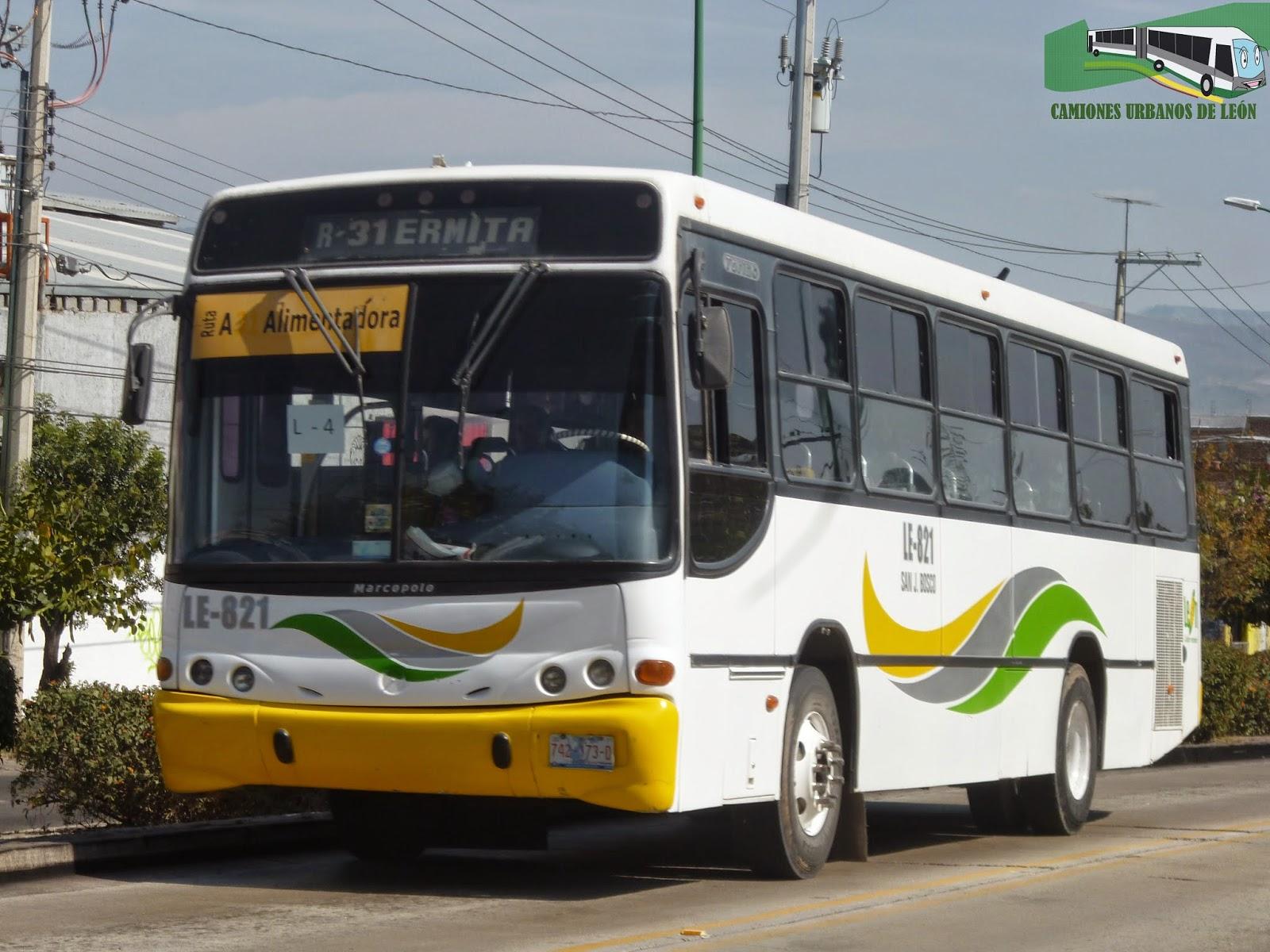 Camiones Urbanos de León, Guanajuato.: enero 2015