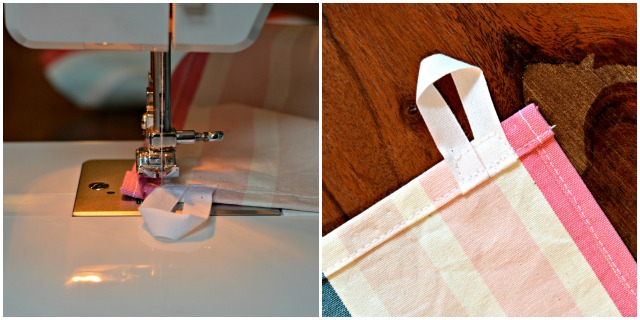 dish towel with loop tutorial