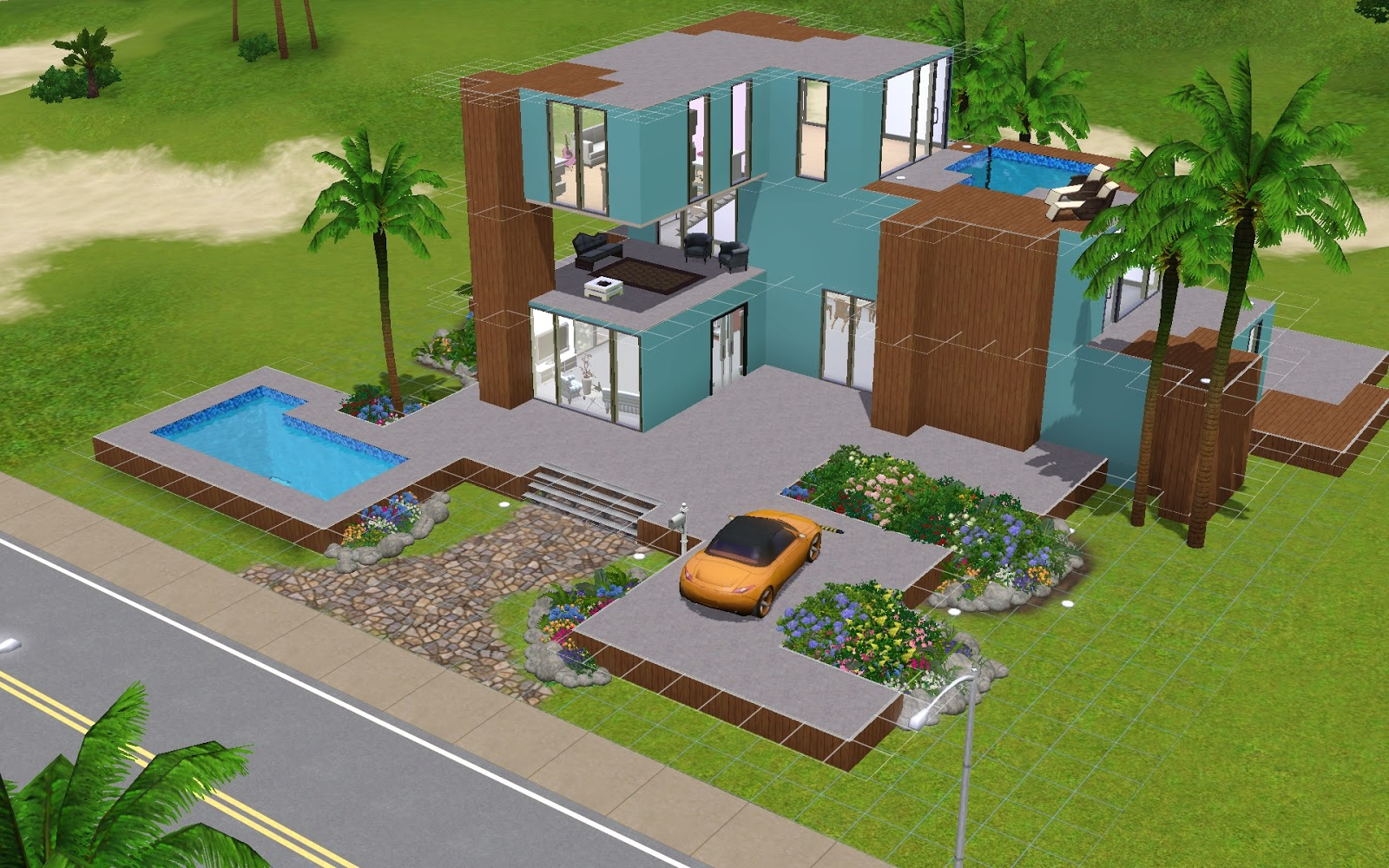 How to sims sims 3 modern house for Modern house roleplay
