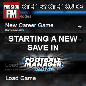 Football Manager 2014 New Save